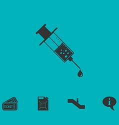Vaccination icon flat vector
