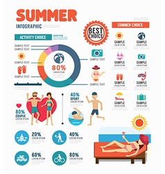 Infographic summer template design concept vector image