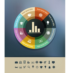 Infographics background vector
