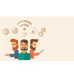 Office teamwork workers vector image