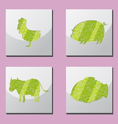 Animal shape frame border situate vector