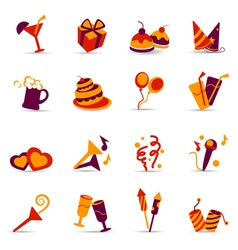 Party icons vector