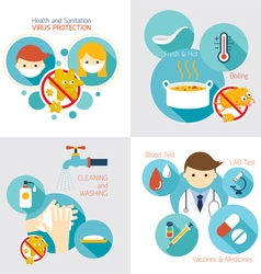 Health and sanitation infographics vector