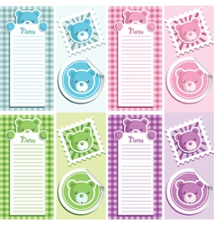 Scrapbook bear design elements vector