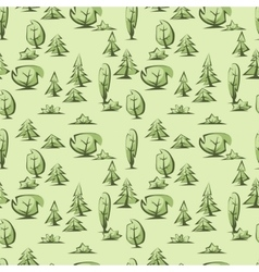 Green trees pattern vector