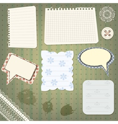 Set of scrapbook design vector