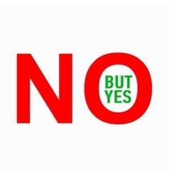 No but yes icon simple style vector