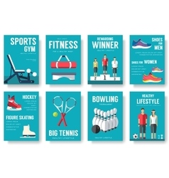 Sport lifestyle typography cover design concept vector