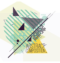 Abstract composition with geometric simple figures vector