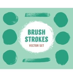 Set of brush strokes colour is editable vector