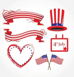 american flag stylized background vector image