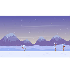 Background game scenery at winter vector