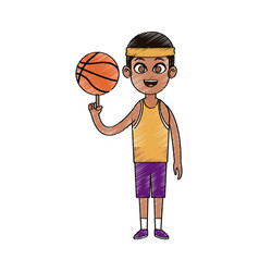 basketball player cartoon icon image vector image vector image