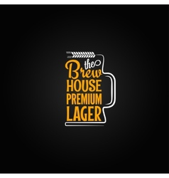 beer mug design background vector image