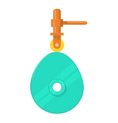 Cam mechanism icon cartoon style vector