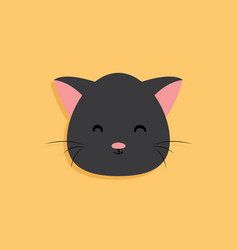 cat cartoon face vector image vector image