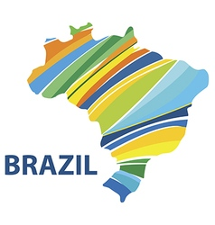 Colorful abstract Brazil map vector image vector image