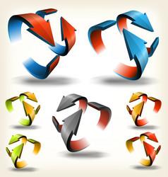 Double-sided abstract circular arrows vector