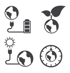 Earth and ecology icons set elements of this vector