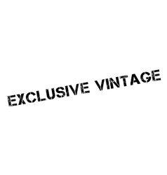 Exclusive vintage rubber stamp vector