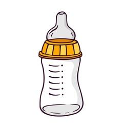 Feeding-bottle bright children isolated on vector