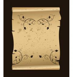 floral manuscript vector image