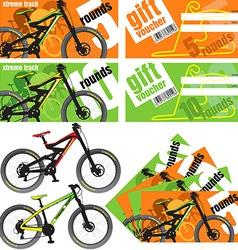 Gift Vouchers Set vector image vector image