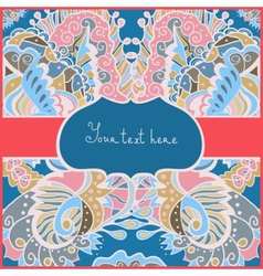 Greeting ornamental card for life events vector