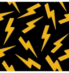 High voltage yellow sign seamless pattern vector