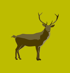 In flat style deer vector