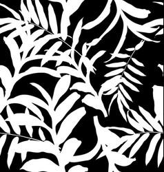 leaf seamless pattern vector image vector image
