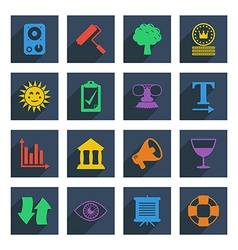 media icons set 5 vector image vector image