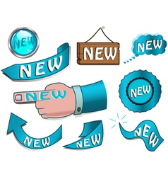 new design elements vector image vector image