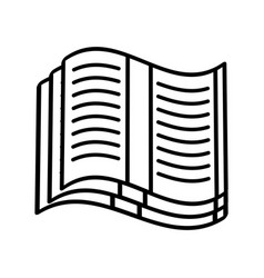 Open book read learn outline vector