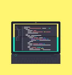 programming and coding concept vector image vector image