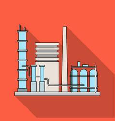 Refineryoil single icon in flat style vector
