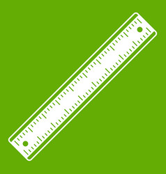 ruler icon green vector image