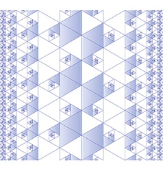 Seamless fractal pattern vector image