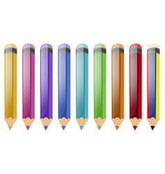 set of color pencils vector image vector image