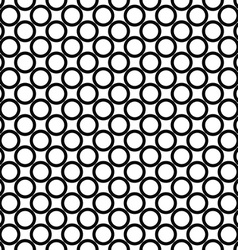 Simple seamless monochrome ring pattern vector image vector image