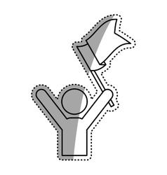 Success man pictrogram vector image