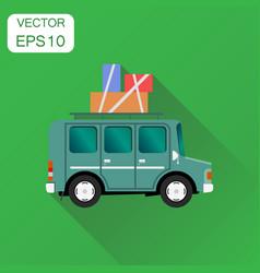Travel car icon business concept vacation auto vector