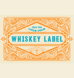 Whiskey label vector