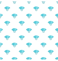 Wireless network symbol pattern cartoon style vector image