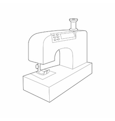 Sewing machine icon outline style vector