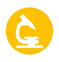 Microscope science laboratory icon vector