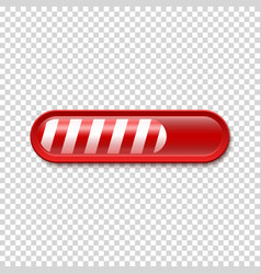 Christmas loading bar isolated on transparent vector
