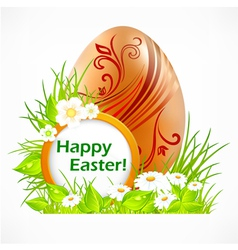 happy easter eggs signboard vector image