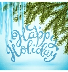 Happy holiday poster vector