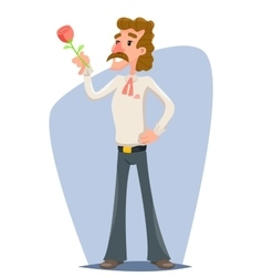 Retro macho hunk congratulates women on occasion vector